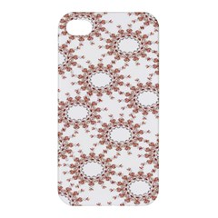 Pattern Flower Floral Star Circle Love Valentine Heart Pink Red Folk Apple Iphone 4/4s Hardshell Case by Mariart