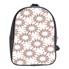 Pattern Flower Floral Star Circle Love Valentine Heart Pink Red Folk School Bag (xl) by Mariart