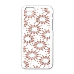 Pattern Flower Floral Star Circle Love Valentine Heart Pink Red Folk Apple Iphone 6/6s White Enamel Case by Mariart
