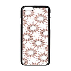Pattern Flower Floral Star Circle Love Valentine Heart Pink Red Folk Apple Iphone 6/6s Black Enamel Case by Mariart