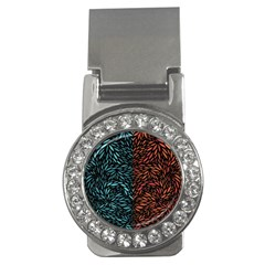 Square Pheonix Blue Orange Red Money Clips (cz)  by Mariart