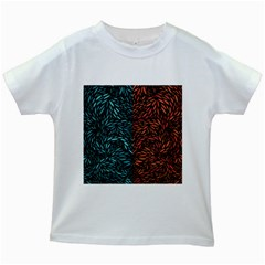 Square Pheonix Blue Orange Red Kids White T-shirts by Mariart