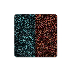 Square Pheonix Blue Orange Red Square Magnet by Mariart