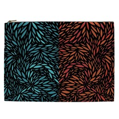 Square Pheonix Blue Orange Red Cosmetic Bag (xxl)  by Mariart