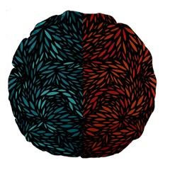 Square Pheonix Blue Orange Red Large 18  Premium Round Cushions by Mariart