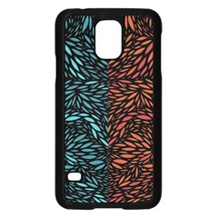 Square Pheonix Blue Orange Red Samsung Galaxy S5 Case (black) by Mariart