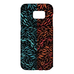 Square Pheonix Blue Orange Red Samsung Galaxy S7 Edge Hardshell Case by Mariart