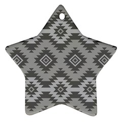 Triangle Wave Chevron Grey Sign Star Ornament (star) by Mariart