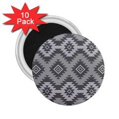 Triangle Wave Chevron Grey Sign Star 2 25  Magnets (10 Pack)