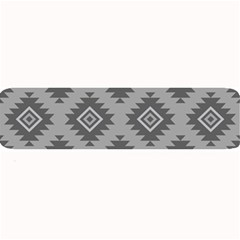 Triangle Wave Chevron Grey Sign Star Large Bar Mats by Mariart