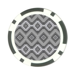 Triangle Wave Chevron Grey Sign Star Poker Chip Card Guard (10 Pack) by Mariart