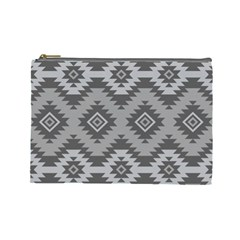 Triangle Wave Chevron Grey Sign Star Cosmetic Bag (large)