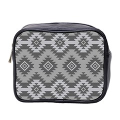 Triangle Wave Chevron Grey Sign Star Mini Toiletries Bag 2 Side by Mariart