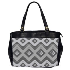 Triangle Wave Chevron Grey Sign Star Office Handbags (2 Sides)  by Mariart