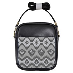 Triangle Wave Chevron Grey Sign Star Girls Sling Bags by Mariart