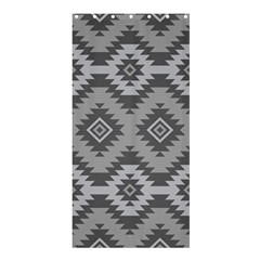 Triangle Wave Chevron Grey Sign Star Shower Curtain 36  X 72  (stall)  by Mariart