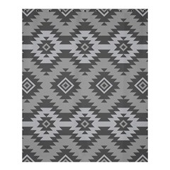 Triangle Wave Chevron Grey Sign Star Shower Curtain 60  X 72  (medium)  by Mariart
