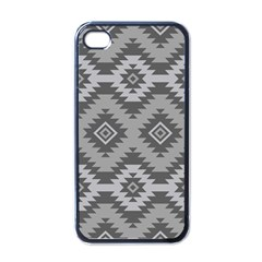 Triangle Wave Chevron Grey Sign Star Apple Iphone 4 Case (black)