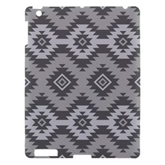 Triangle Wave Chevron Grey Sign Star Apple Ipad 3/4 Hardshell Case by Mariart