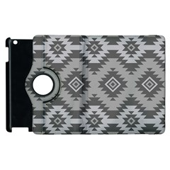 Triangle Wave Chevron Grey Sign Star Apple Ipad 2 Flip 360 Case by Mariart