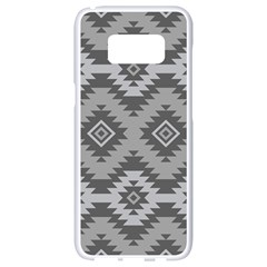 Triangle Wave Chevron Grey Sign Star Samsung Galaxy S8 White Seamless Case by Mariart