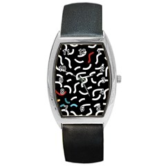 Toucan White Bluered Barrel Style Metal Watch by Mariart
