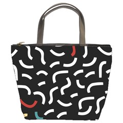 Toucan White Bluered Bucket Bags by Mariart