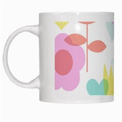 Tulip Lotus Sunflower Flower Floral Staer Love Pink Red Blue Green White Mugs by Mariart