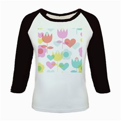 Tulip Lotus Sunflower Flower Floral Staer Love Pink Red Blue Green Kids Baseball Jerseys