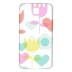 Tulip Lotus Sunflower Flower Floral Staer Love Pink Red Blue Green Samsung Galaxy S5 Back Case (white) by Mariart