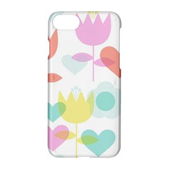 Tulip Lotus Sunflower Flower Floral Staer Love Pink Red Blue Green Apple Iphone 7 Hardshell Case by Mariart