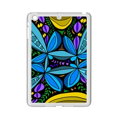 Star Polka Natural Blue Yellow Flower Floral Ipad Mini 2 Enamel Coated Cases by Mariart