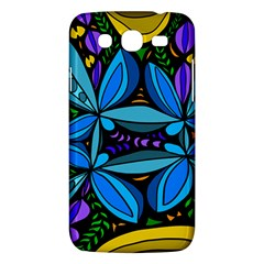 Star Polka Natural Blue Yellow Flower Floral Samsung Galaxy Mega 5 8 I9152 Hardshell Case  by Mariart