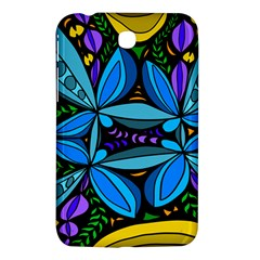 Star Polka Natural Blue Yellow Flower Floral Samsung Galaxy Tab 3 (7 ) P3200 Hardshell Case  by Mariart