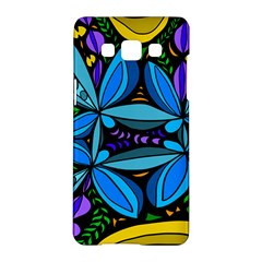 Star Polka Natural Blue Yellow Flower Floral Samsung Galaxy A5 Hardshell Case  by Mariart