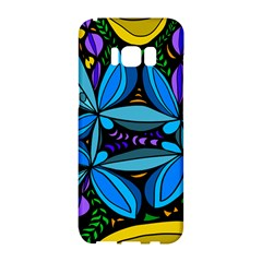 Star Polka Natural Blue Yellow Flower Floral Samsung Galaxy S8 Hardshell Case  by Mariart