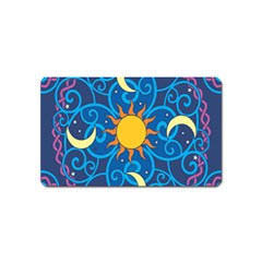 Sun Moon Star Space Vector Clipart Magnet (name Card) by Mariart