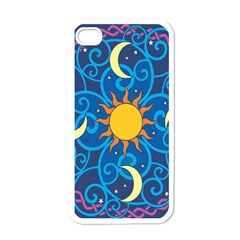 Sun Moon Star Space Vector Clipart Apple Iphone 4 Case (white) by Mariart