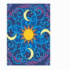 Sun Moon Star Space Vector Clipart Large Garden Flag (two Sides) by Mariart