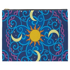 Sun Moon Star Space Vector Clipart Cosmetic Bag (xxxl)  by Mariart