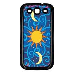 Sun Moon Star Space Vector Clipart Samsung Galaxy S3 Back Case (black) by Mariart