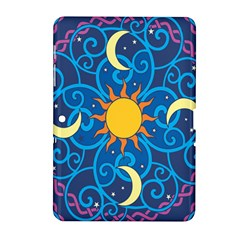 Sun Moon Star Space Vector Clipart Samsung Galaxy Tab 2 (10 1 ) P5100 Hardshell Case  by Mariart