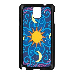 Sun Moon Star Space Vector Clipart Samsung Galaxy Note 3 N9005 Case (black) by Mariart