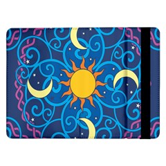 Sun Moon Star Space Vector Clipart Samsung Galaxy Tab Pro 12 2  Flip Case by Mariart