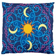 Sun Moon Star Space Vector Clipart Standard Flano Cushion Case (two Sides) by Mariart