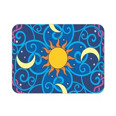 Sun Moon Star Space Vector Clipart Double Sided Flano Blanket (mini)
