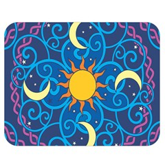 Sun Moon Star Space Vector Clipart Double Sided Flano Blanket (medium)  by Mariart