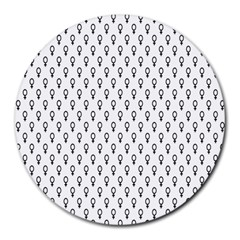 Woman Sign Circle Black Round Mousepads by Mariart