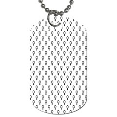 Woman Sign Circle Black Dog Tag (two Sides) by Mariart