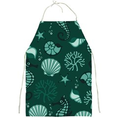 Vector Seamless Pattern With Sea Fauna Seaworld Full Print Aprons